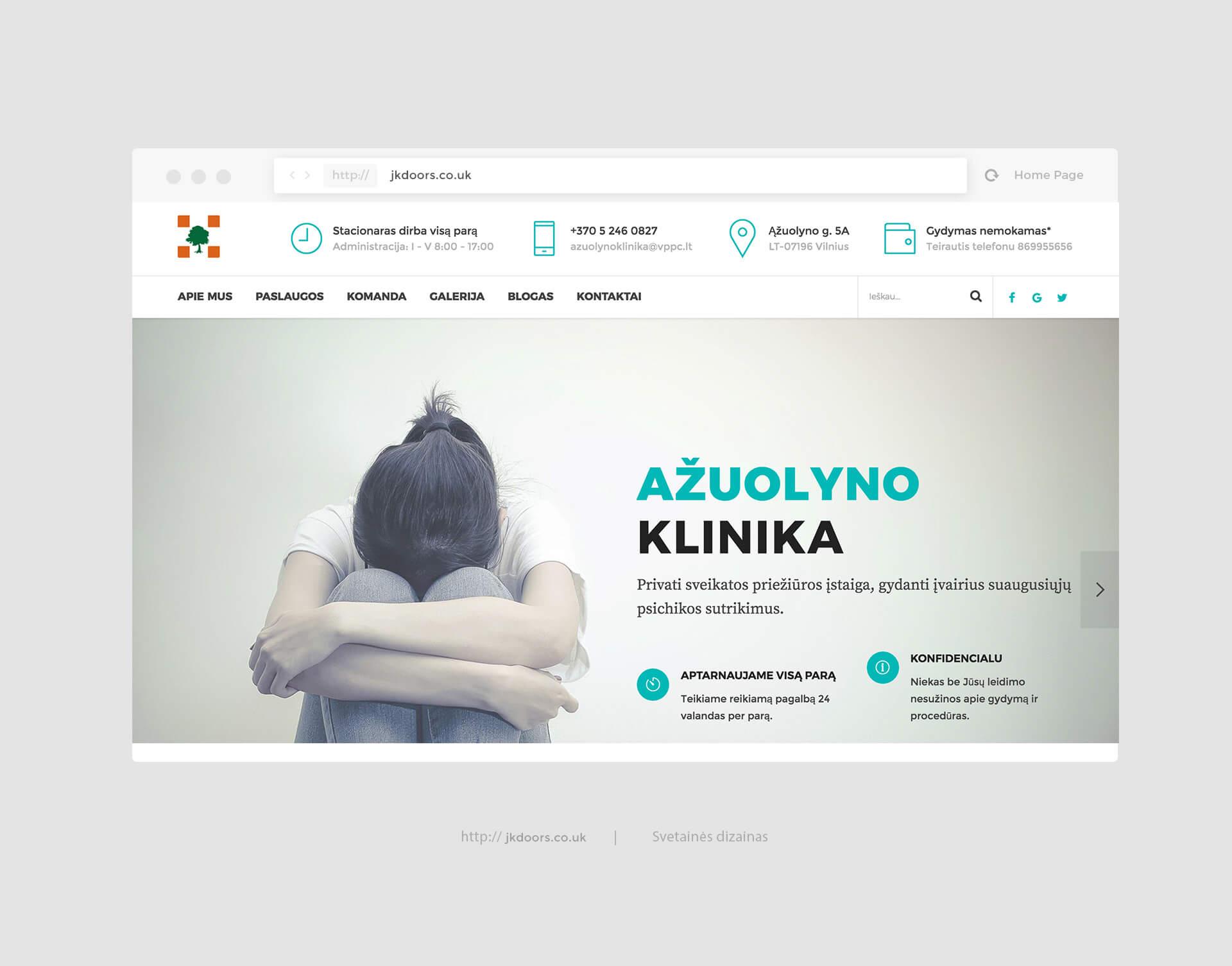 Azuolyno klinika svetaines dizainas
