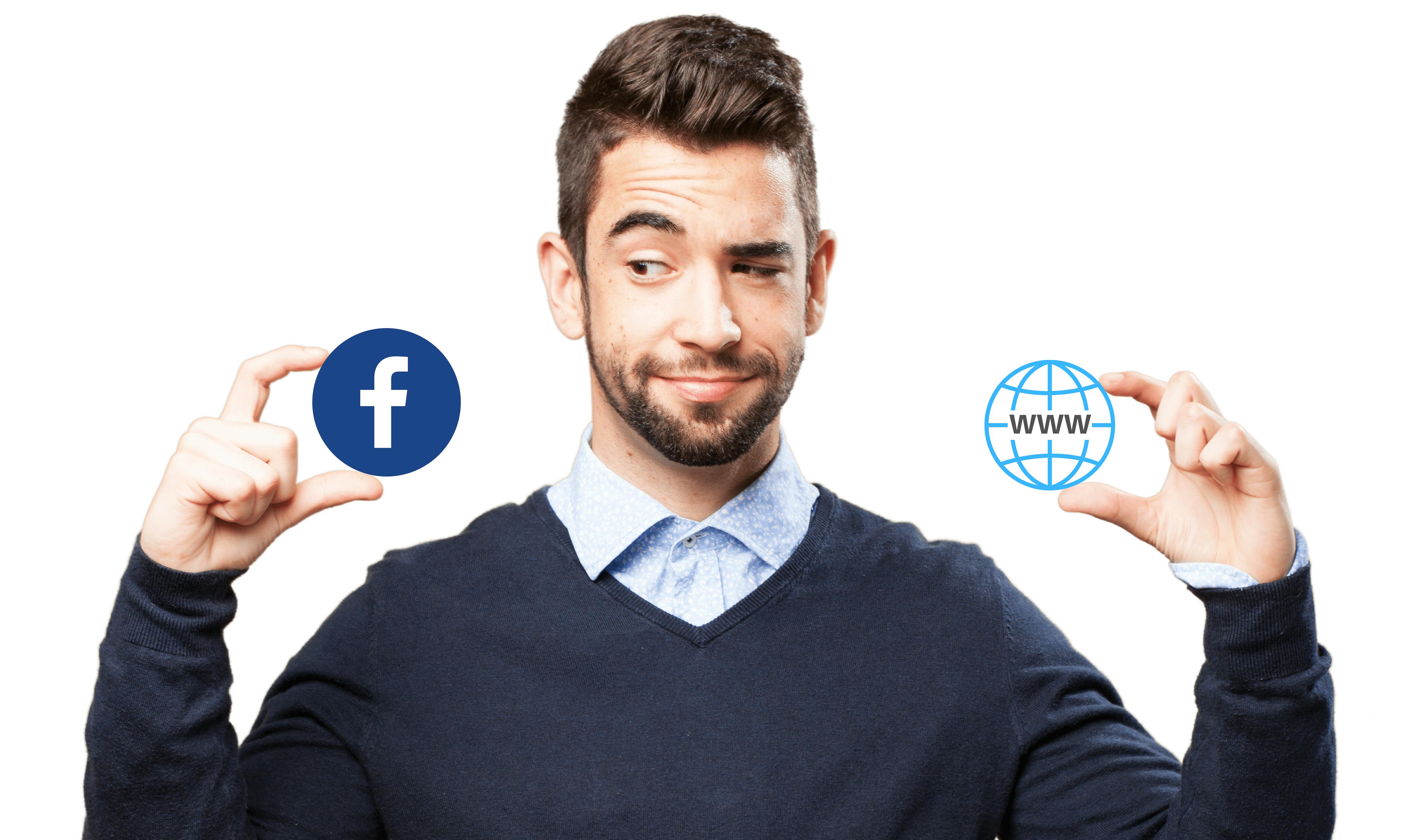 Ar Facebook puslapis gali atstoti internetinę svetainę?